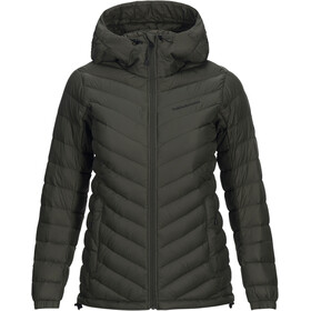 Peak Performance Frost Down Hooded Jas Dames olijf